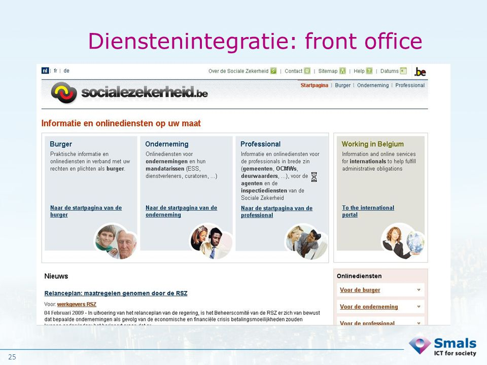 Dienstenintegratie: front office