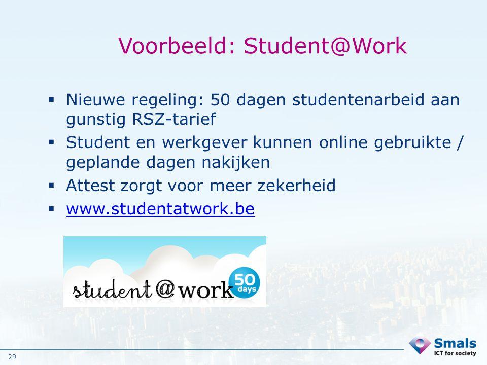 Voorbeeld: Student@Work