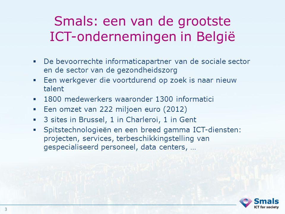 Smals: een van de grootste ICT-ondernemingen in België