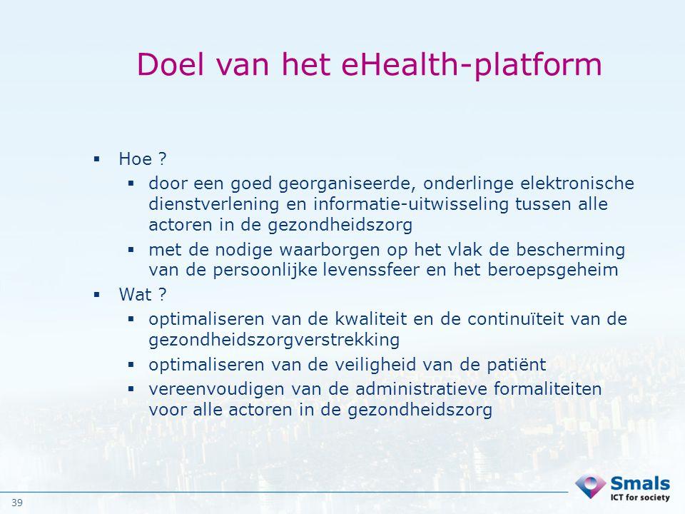 Doel van het eHealth-platform