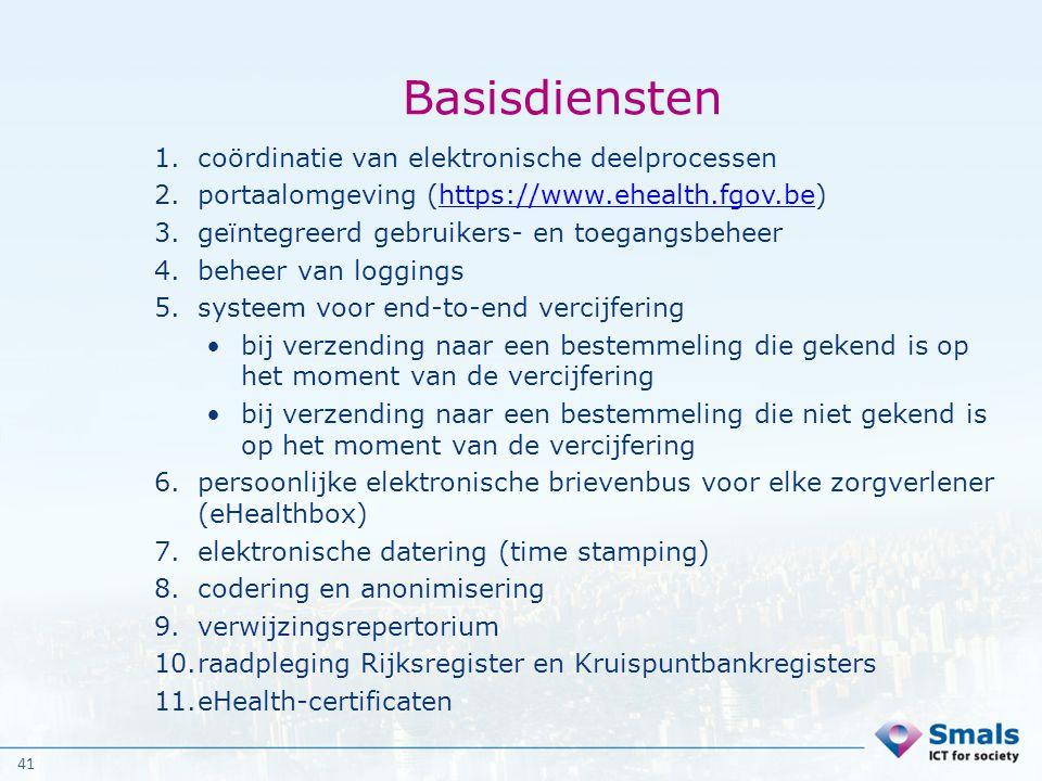 Basisdiensten coördinatie van elektronische deelprocessen