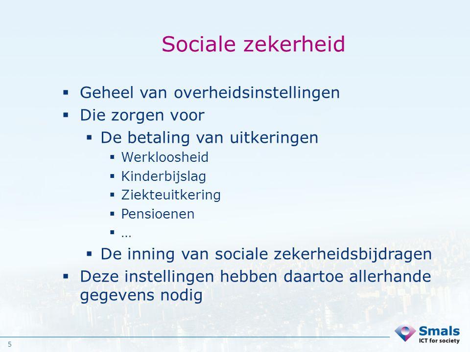 Sociale zekerheid Geheel van overheidsinstellingen Die zorgen voor