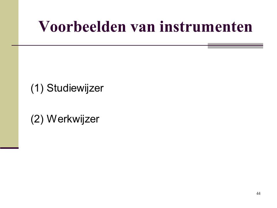Voorbeelden van instrumenten