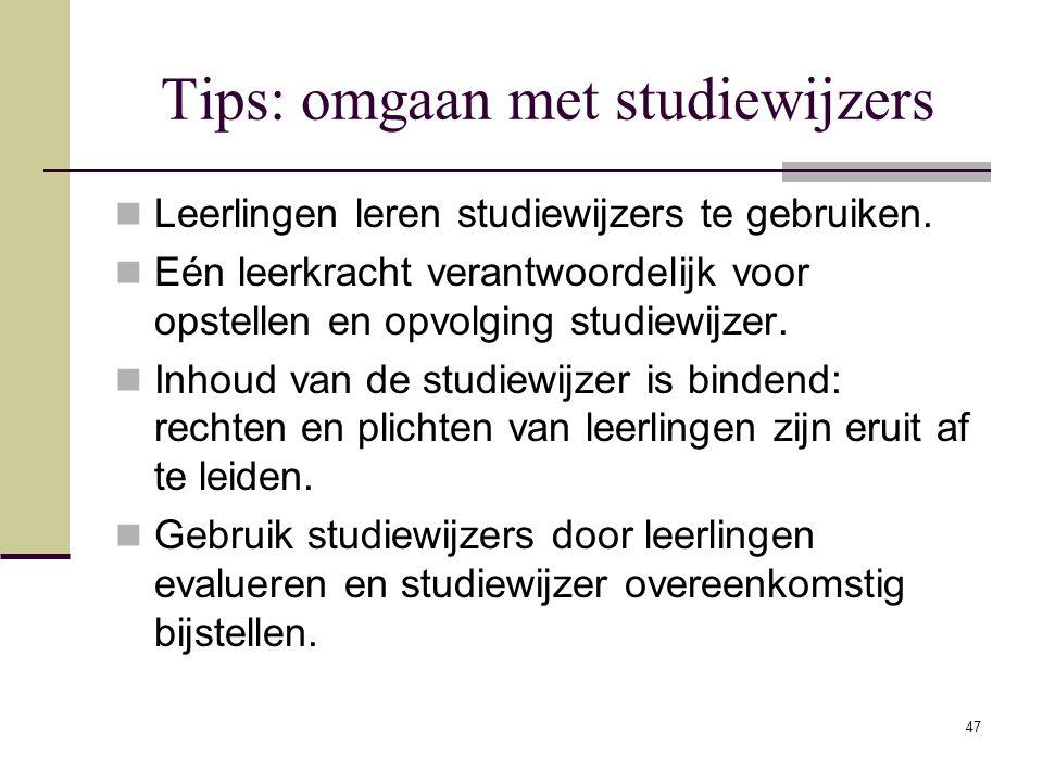 Tips: omgaan met studiewijzers