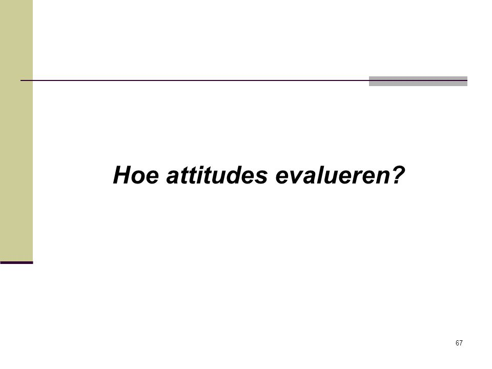 Hoe attitudes evalueren