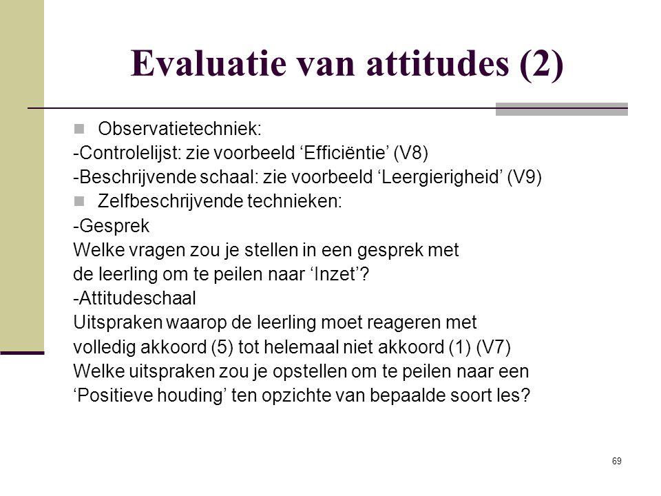 Evaluatie van attitudes (2)