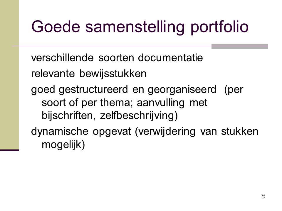Goede samenstelling portfolio