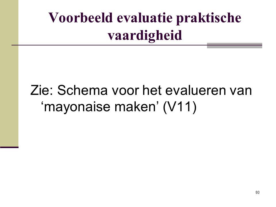 Voorbeeld evaluatie praktische vaardigheid