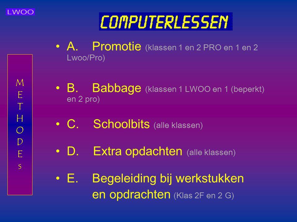 A. Promotie (klassen 1 en 2 PRO en 1 en 2 Lwoo/Pro)