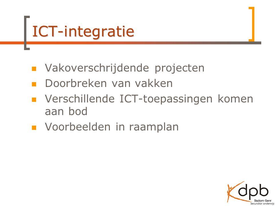 ICT-integratie Vakoverschrijdende projecten Doorbreken van vakken