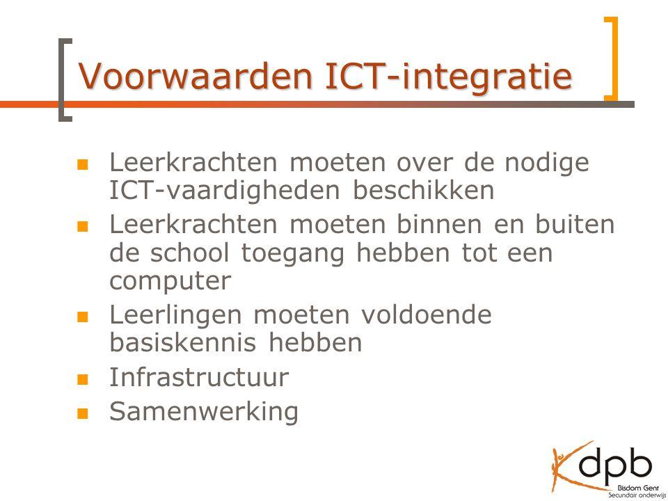 Voorwaarden ICT-integratie