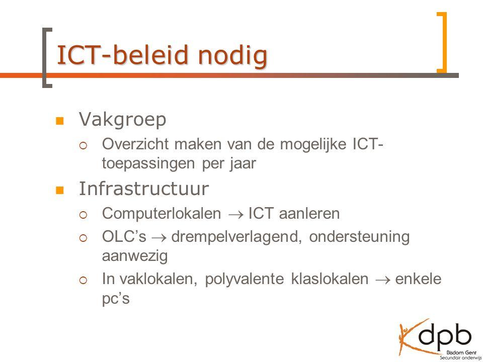 ICT-beleid nodig Vakgroep Infrastructuur