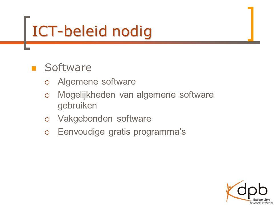 ICT-beleid nodig Software Algemene software