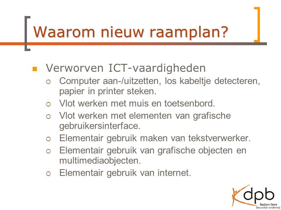 Waarom nieuw raamplan Verworven ICT-vaardigheden