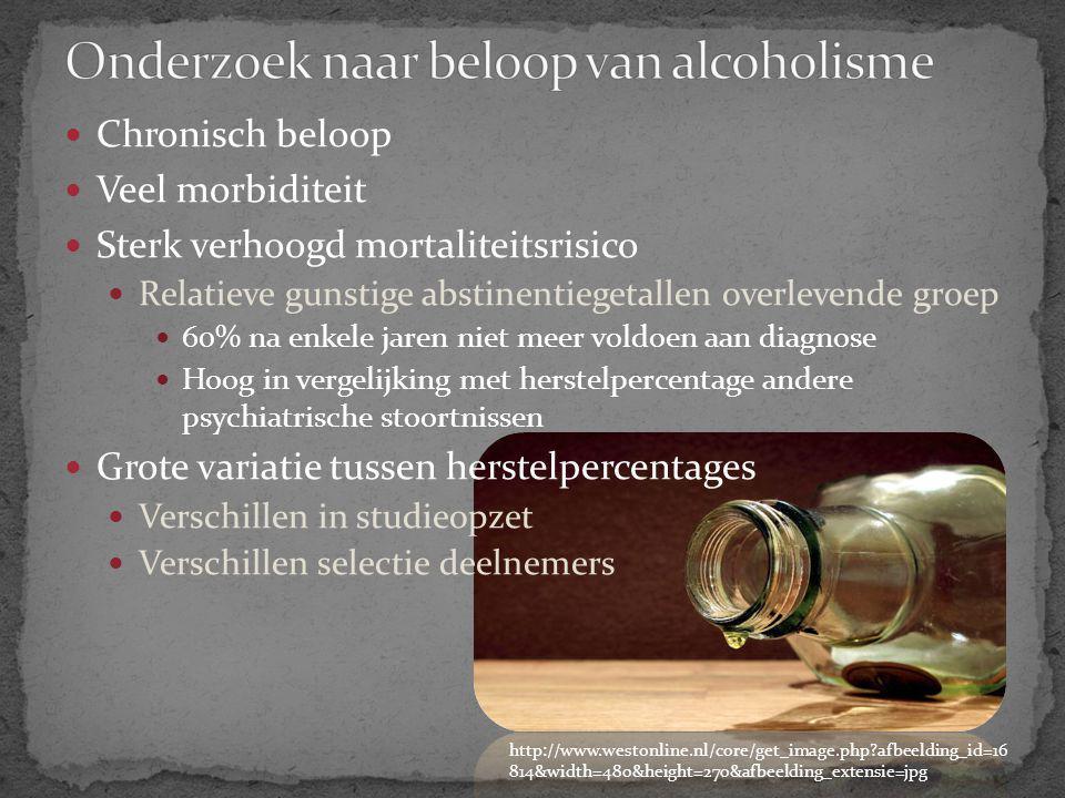 Onderzoek naar beloop van alcoholisme