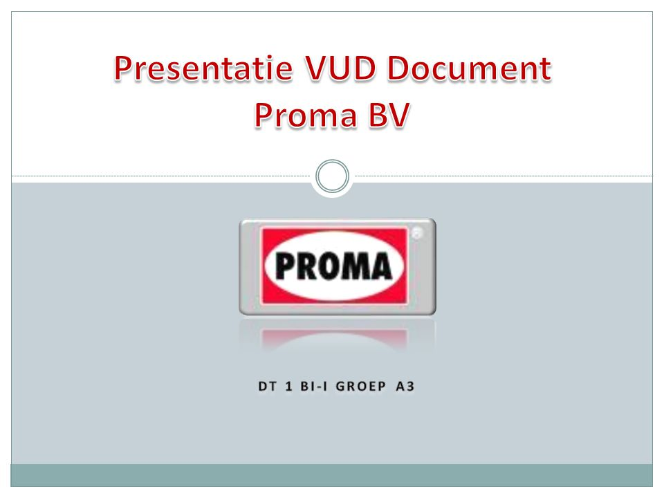 Presentatie VUD Document Proma BV