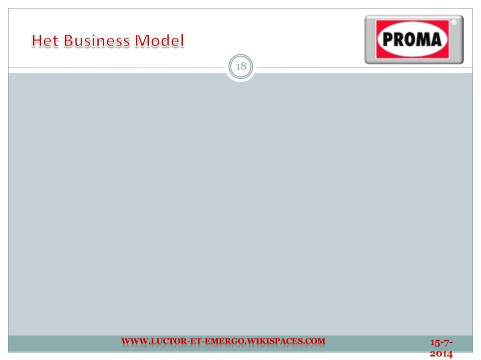 Het Business Model www.luctor-et-emergo.wikispaces.com 4-4-2017