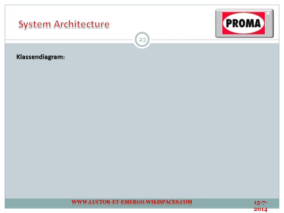 System Architecture Klassendiagram: 4-4-2017
