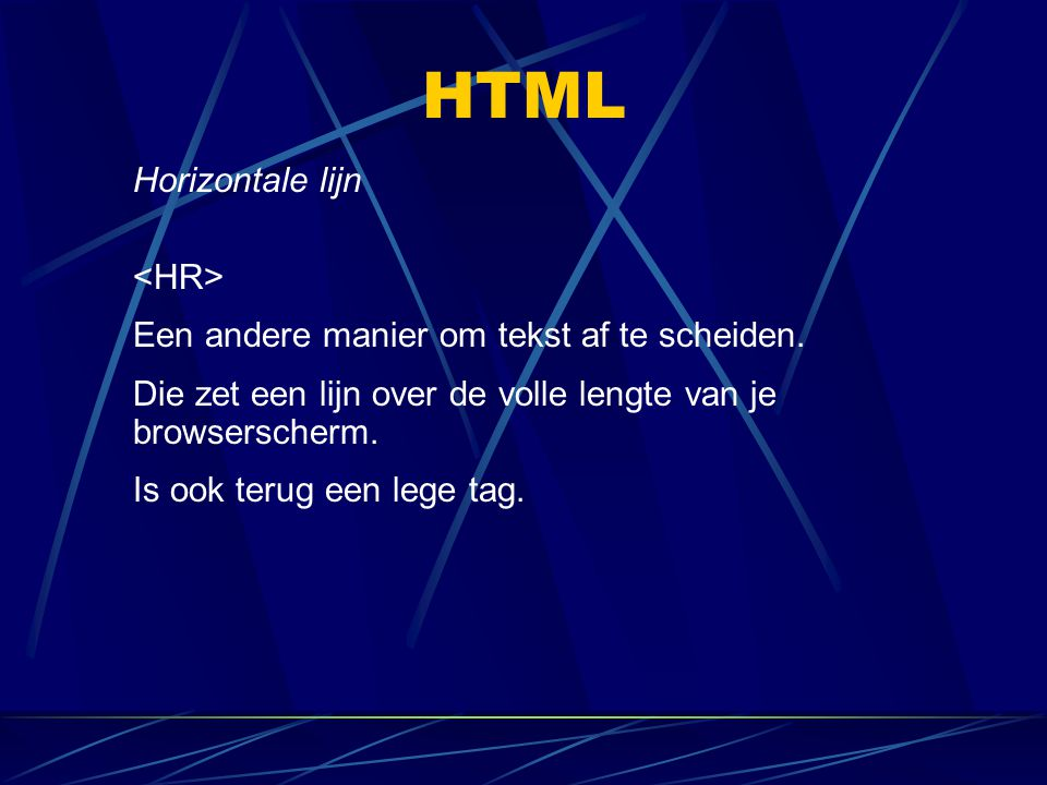 HTML Horizontale lijn <HR>