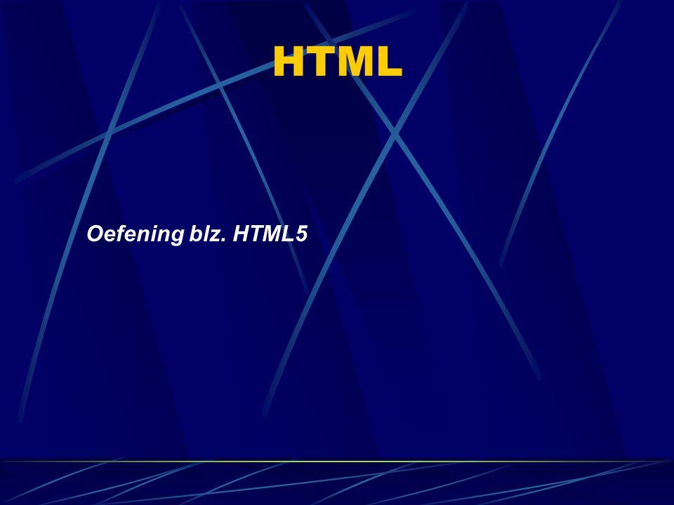 HTML Oefening blz. HTML5