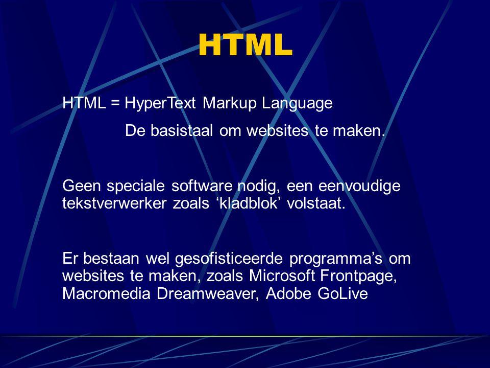 De basistaal om websites te maken.