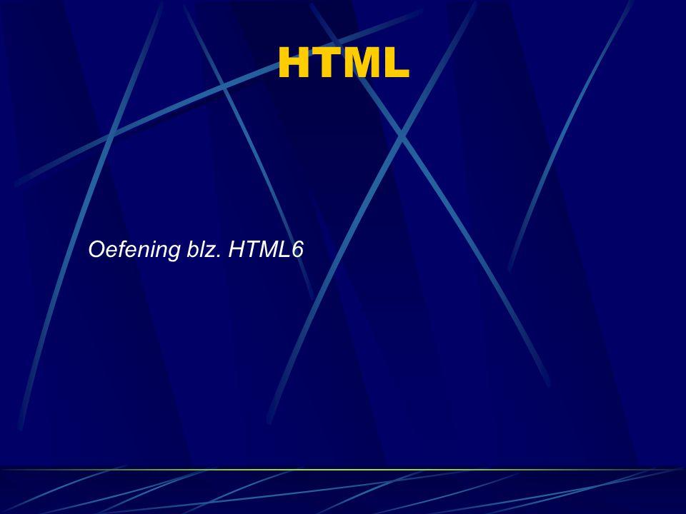 HTML Oefening blz. HTML6