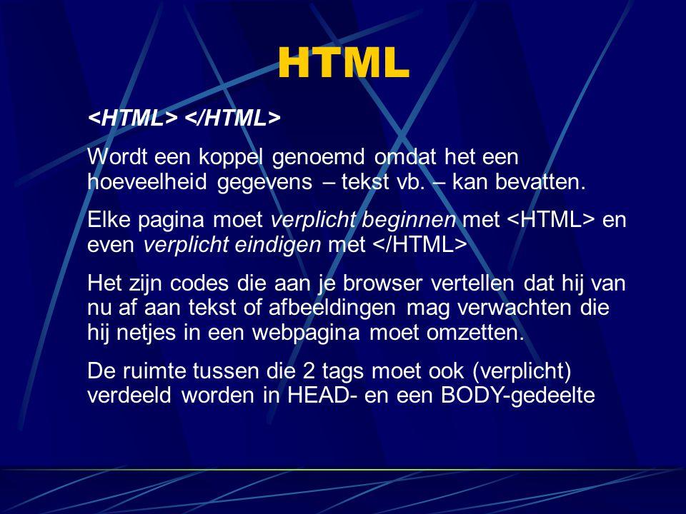 HTML <HTML> </HTML>