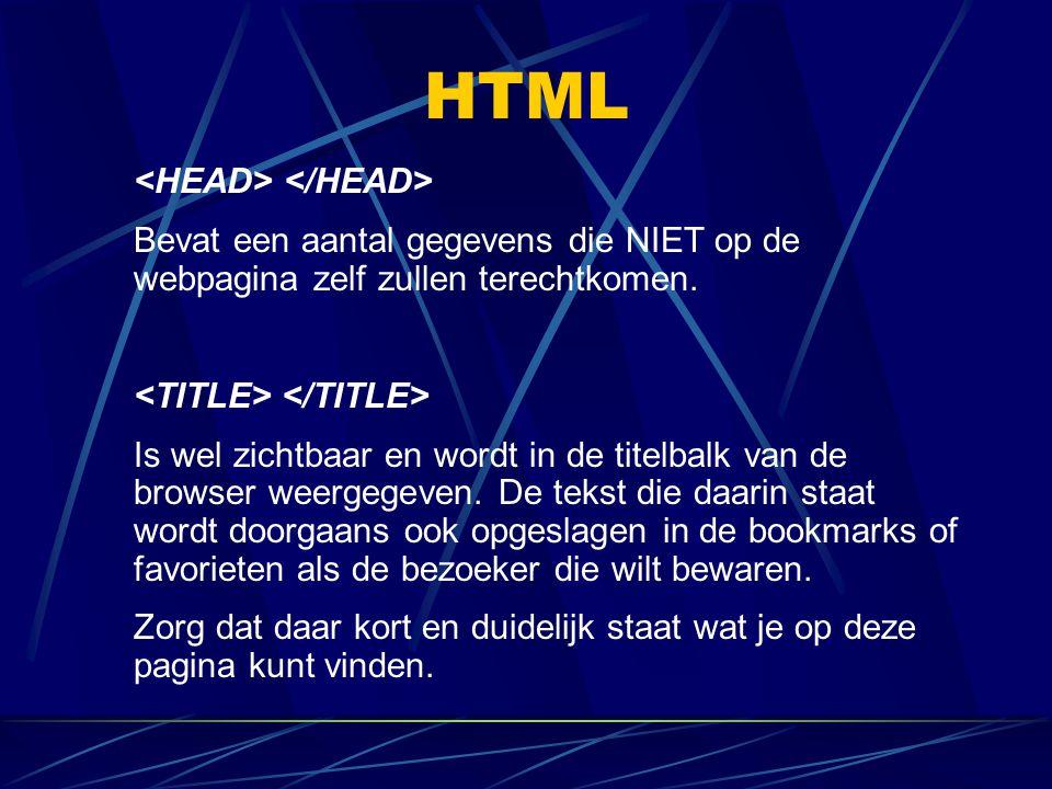 HTML <HEAD> </HEAD>