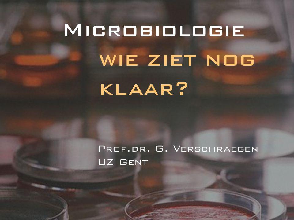 Microbiologie wie ziet nog klaar