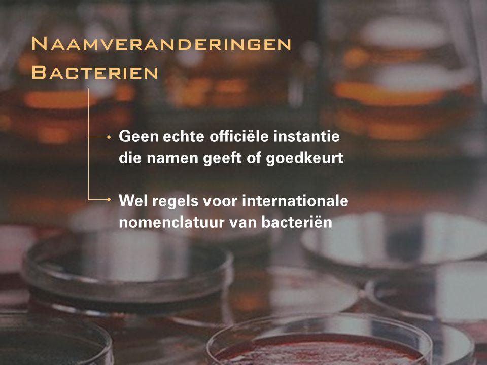 Naamveranderingen Bacterien
