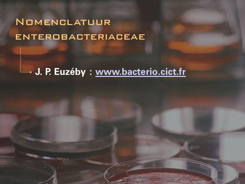 Nomenclatuur enterobacteriaceae