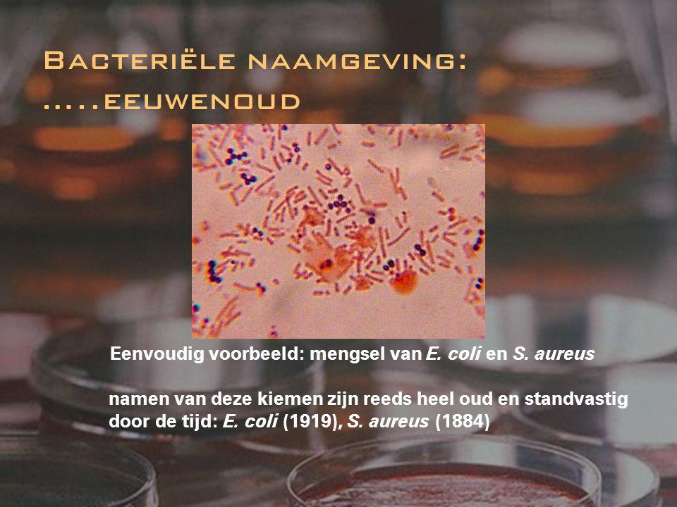 Eenvoudig voorbeeld: mengsel van E. coli en S. aureus