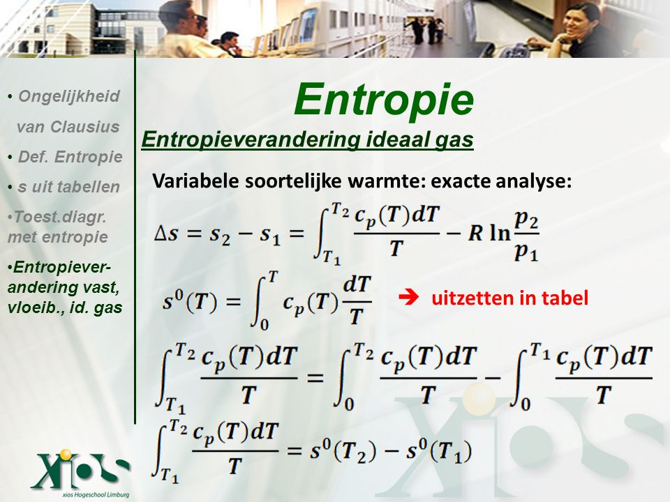 Entropie Entropieverandering ideaal gas