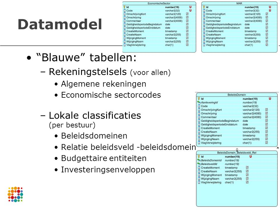 Datamodel Blauwe tabellen: Rekeningstelsels (voor allen)