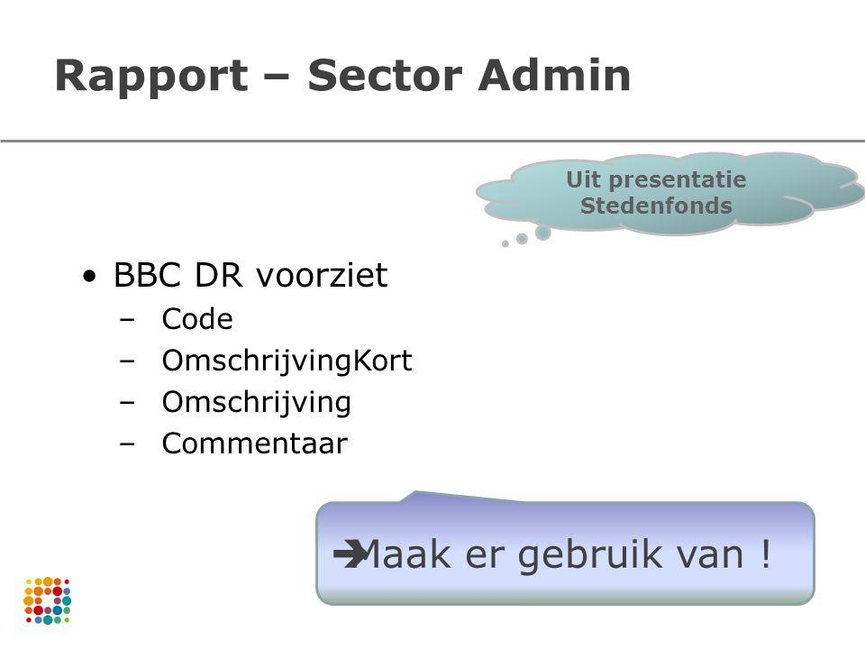 Uit presentatie Stedenfonds