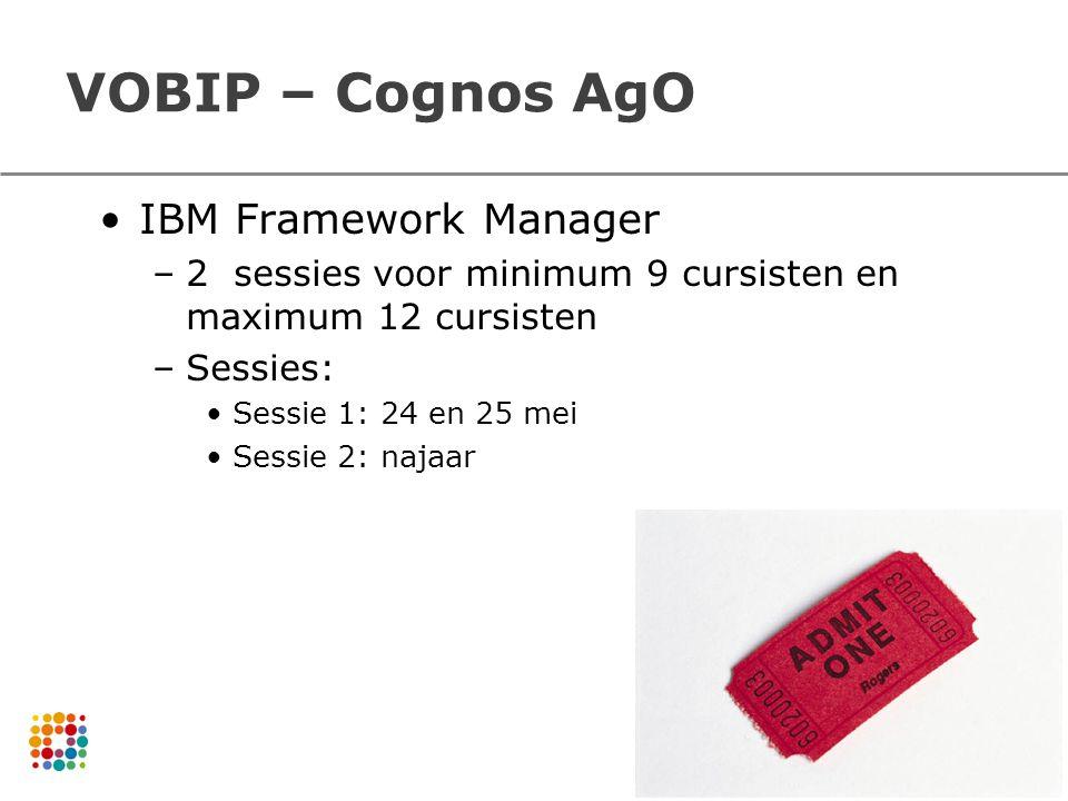 VOBIP – Cognos AgO IBM Framework Manager