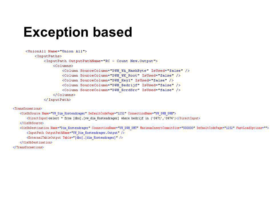 Exception based