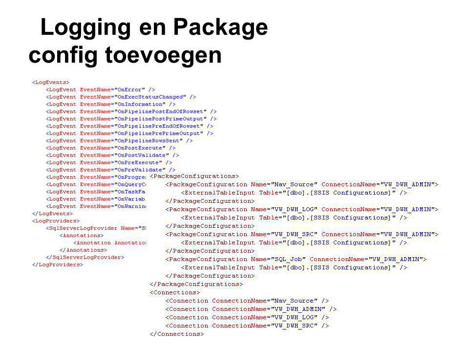 Logging en Package config toevoegen