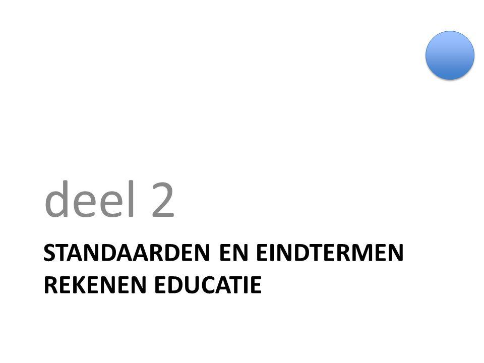 Standaarden en eindtermen rekenen educatie
