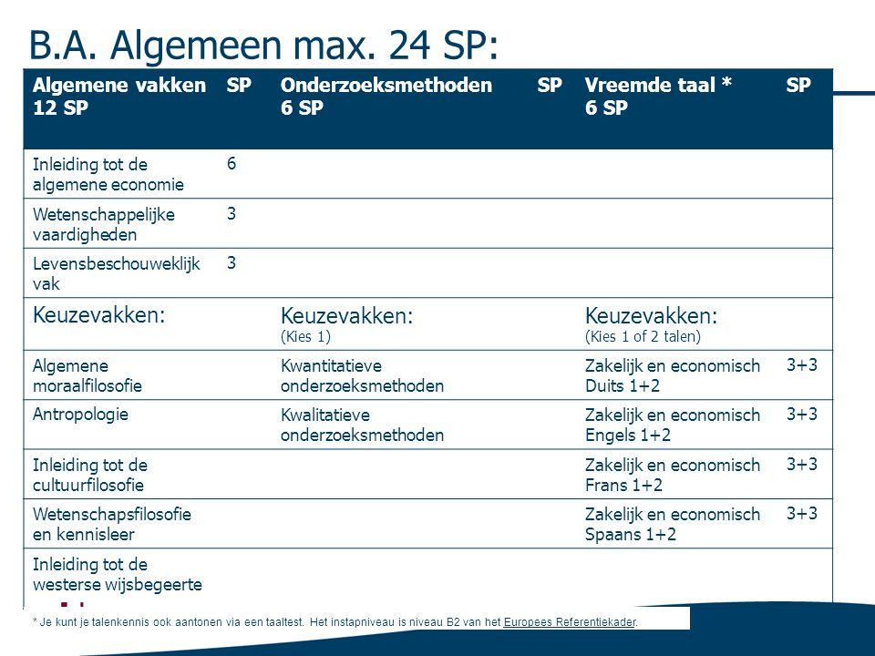 BA Communicatiewetenschappen max. 6SP