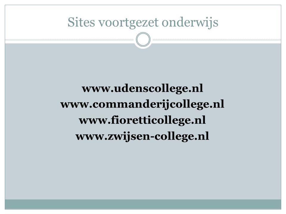 Sites voortgezet onderwijs