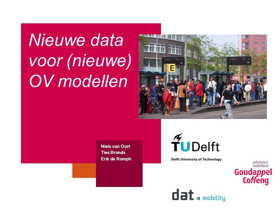 Nieuwe data voor (nieuwe) OV modellen