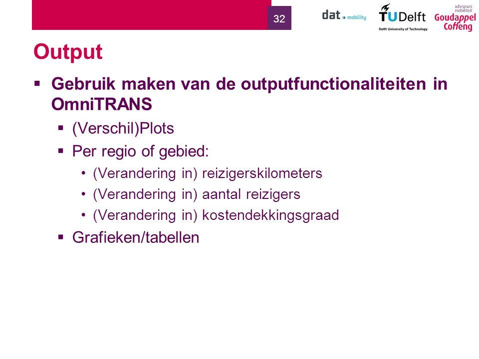 Output Gebruik maken van de outputfunctionaliteiten in OmniTRANS