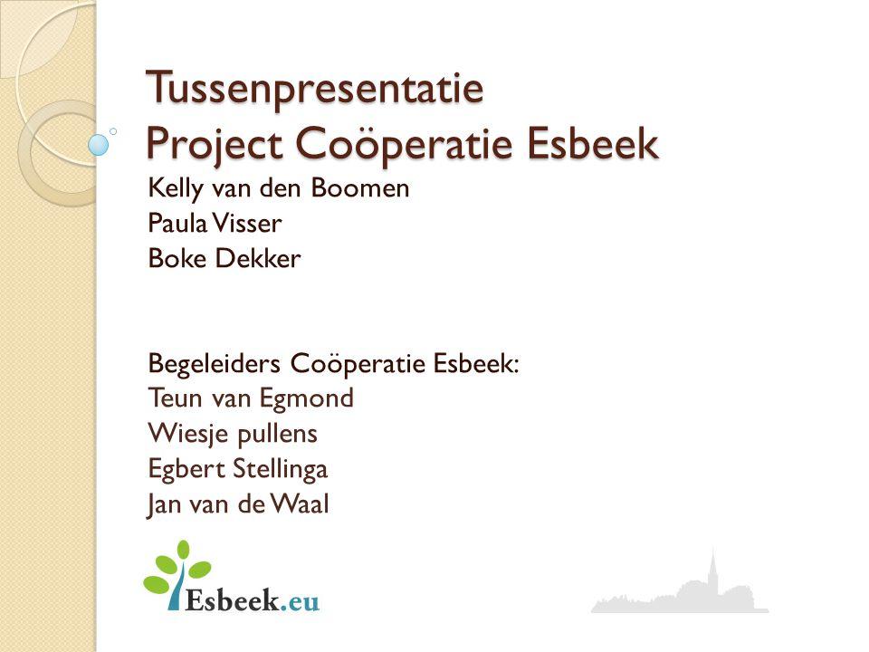 Tussenpresentatie Project Coöperatie Esbeek