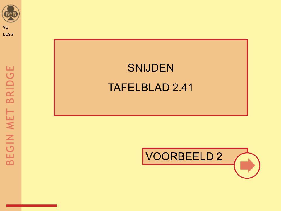 VC LES 2 SNIJDEN TAFELBLAD 2.41 VOORBEELD 2