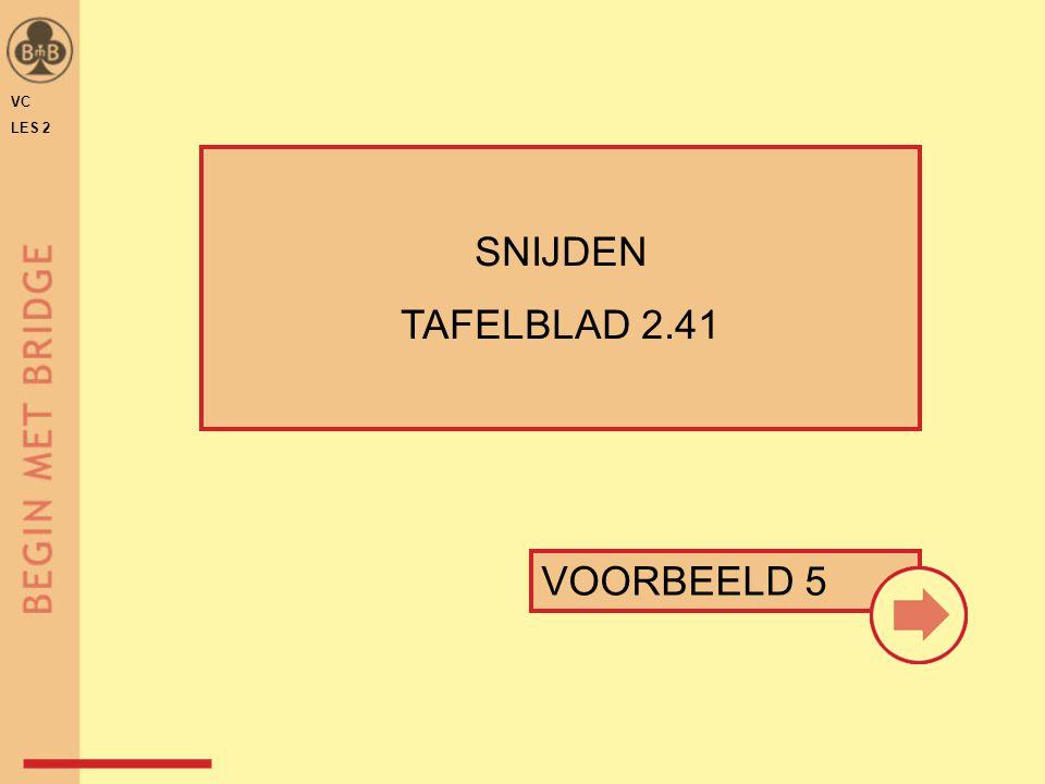 VC LES 2 SNIJDEN TAFELBLAD 2.41 VOORBEELD 5