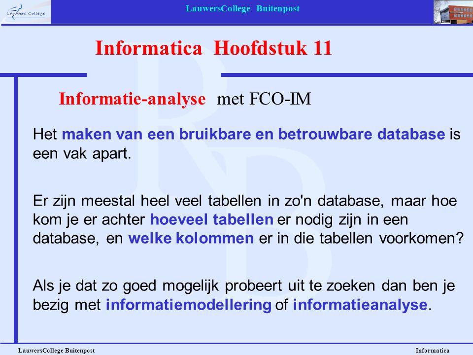Informatica Hoofdstuk 11 LauwersCollege Buitenpost Informatica