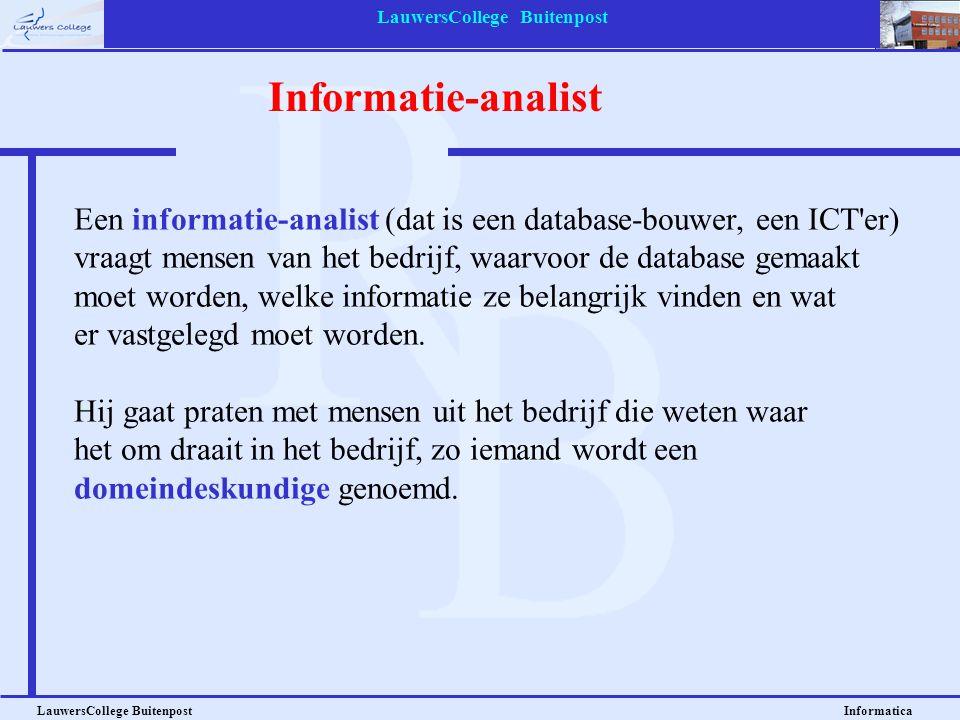 LauwersCollege Buitenpost Informatica