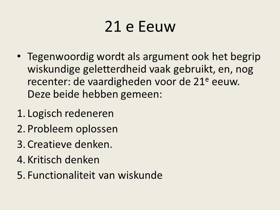 21 e Eeuw