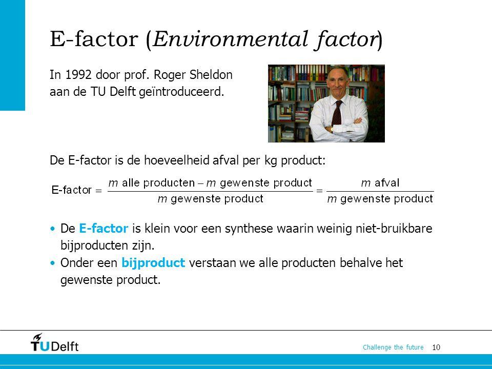 E-factor (Environmental factor)